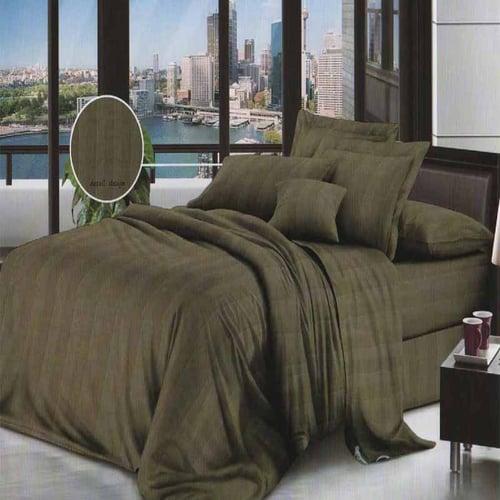 ROSEWELL Bed Cover Microtex Emboss Salur 100x200cm Hijau Tua