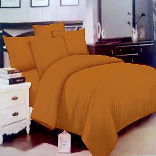 ROSEWELL Sprei Microtex Disperse Polos 100x200cm Coklat Gold