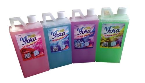 YORA Detergen Cair Hi Foam Aroma Downy Red 1 liter