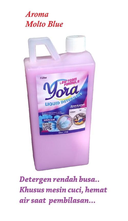 YORA Detergen Cair Low Foam Aroma Molto Blue 1 liter