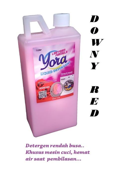 YORA Detergen Cair Low Foam Aroma Downy Red 1 liter