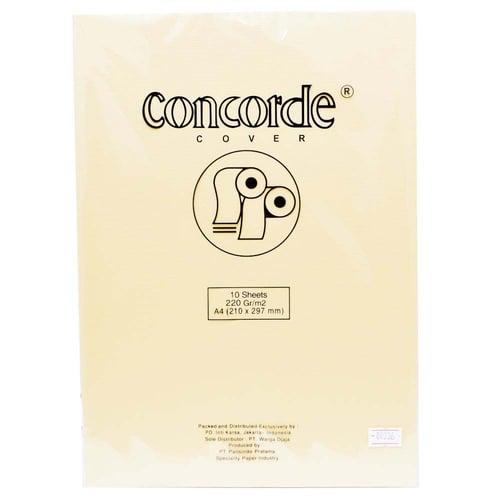 CONCORDE Kertas A4 80236 Cream 1 Pack Isi 10 Lembar