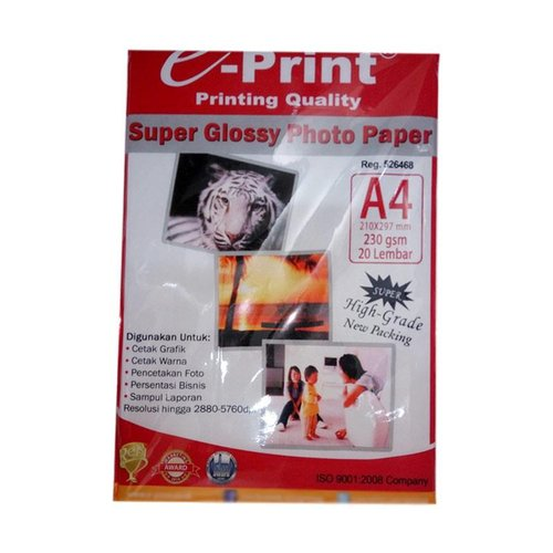 E-PRINT Kertas Photo 230gsm A4 Isi 20 Sheets