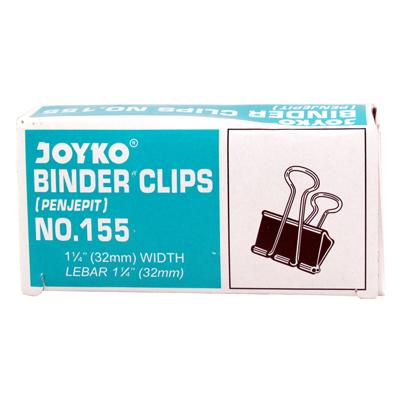 JOYKO Binder Clips No.155 1 Pack Isi 12 pcs