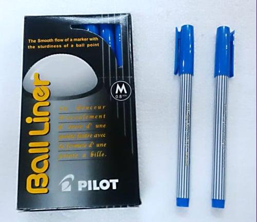 PILOT Pulpen Ball Liner Medium 0.8mm Biru