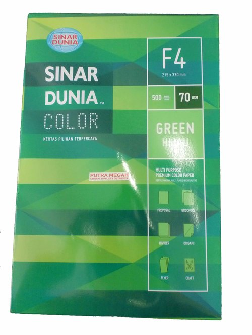 SINAR DUNIA Paper Colour Folio 70gr Green 1 Rim