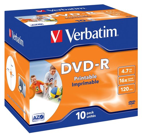 VERBATIM DVD-R 16X 4.7GB 1 Pack Isi 10 pcs