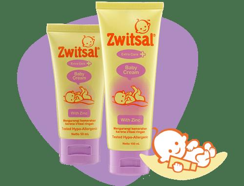 Zwitsal Extra Care Baby Cream with Zync 50ml Tub ruam popok iritasi
