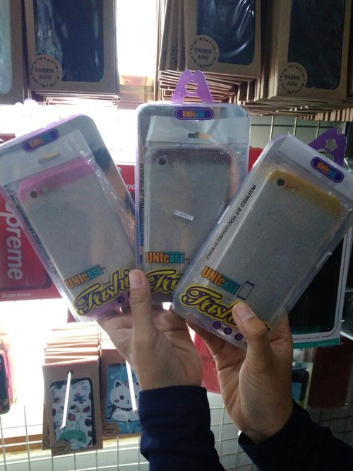 Fashioncase Softcase Tpu Gliter Combi For Apple Iphone7+