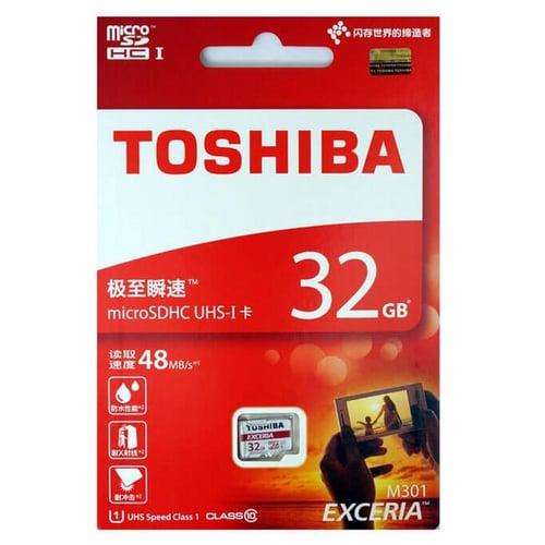 TOSHIBA MicroSD 32GB Read Speed 48 MBs C10 default