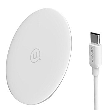 USAMS Boswell Series Wireless fast Charging Pad White