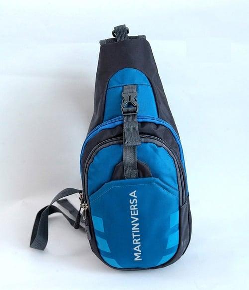 Ch8 Blue Tas Selempang Slempang Pria Wanita Kanvas Nylon Sling Bag Slingbag Impor Import