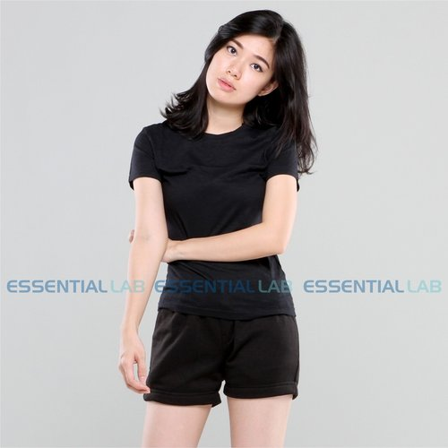 Essential Lab - Basic Slub T-Shirt (Black)