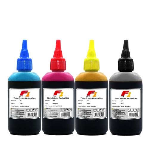 SET TINTA PRINTER F1 INK FOR PRINTER HP DESKJET 4 WARNA CMYK 100ML