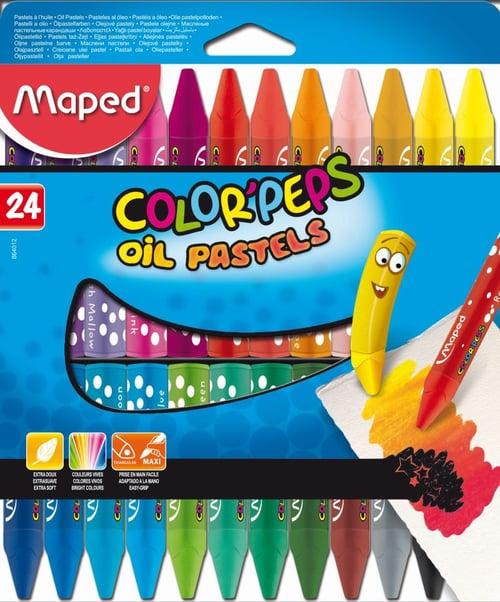 MAPED Crayon Oil Pastel 24 Cardboard