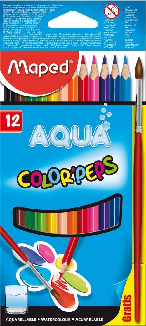 MAPED Pensil Warna Water Color Pencils 12 Cardboard