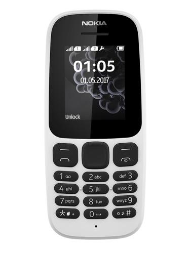 NOKIA 105 Dual SIM 2017 - White - Garansi Resmi