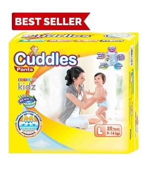 Popok - Cuddles Diapers Pull-Up Pants L20 - Better Than Sweety ; Goon ; Merries ; Fitti Day ; Mamy Poko;