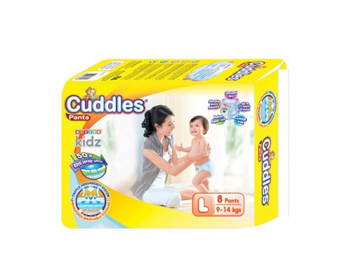 Popok - Cuddles Diapers Pull-Up Pants L8 - Better Than Sweety & Mamy Poko; Merries; Fitti; Goon