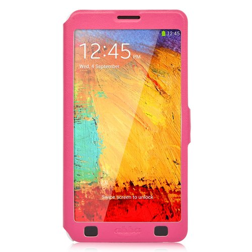 harga Ahha Arias Magic Leather Flipcase Casing for Samsung Galaxy Note 3   Fuchsia Ralali.com