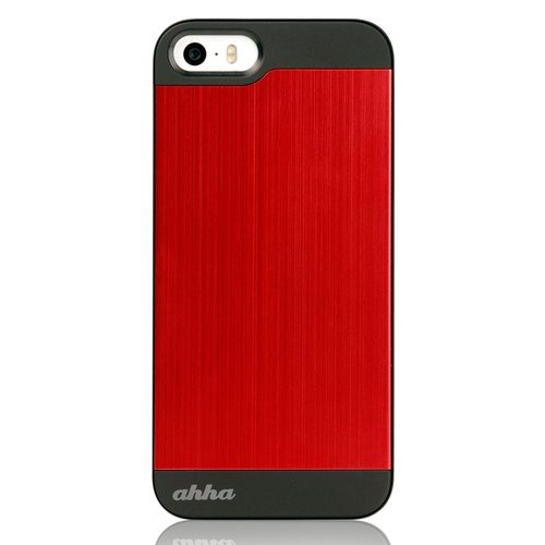 Ahha Jensen Metallic Casing for iPhone 5 or 5s - Merah