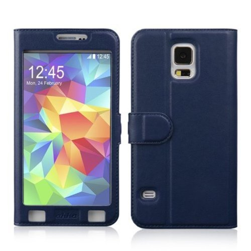 AHHA Joy Magic Flip Cover Casing for Samsung Galaxy S5 - Ocean Blue