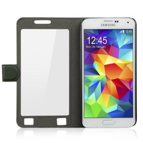 Ahha Joy Magic Flip Cover Casing for Samsung Galaxy S5 - Jungle Green