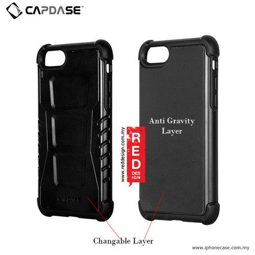 CAPDASE Armor Suit Combo Rider Jacket Newton Cover Casing for iPhone 7 Plus - Solid Black