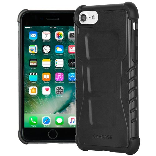 CAPDASE Armor Suit Rider Jacket Casing for iPhone 7 - Solid Black