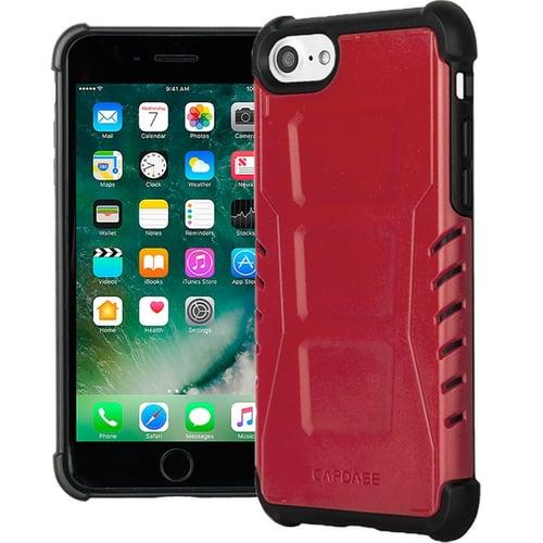 CAPDASE Rider Jacket Armor Suit Casing for iPhone 7 Plus - Merah
