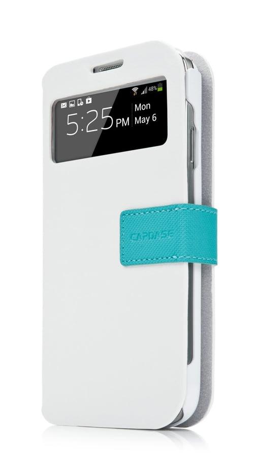 Capdase Smart Folder Sider Id Belt Casing for Samsung Galaxy S4 Mini - Putih