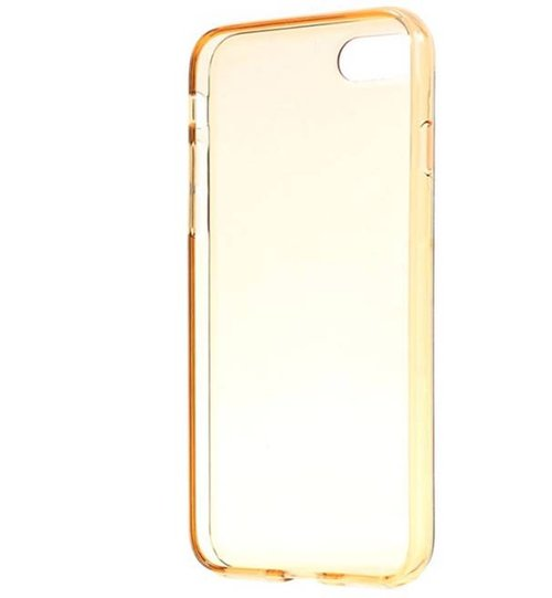 CAPDASE Soft Jacket Casing for iPhone 7 - Clear Gold + Free Gripper Gold