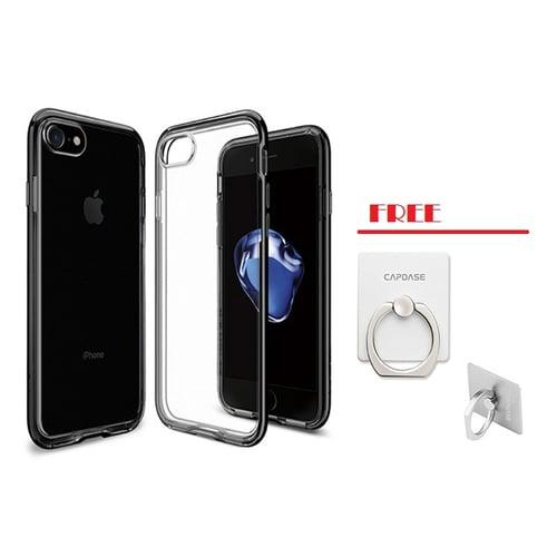 CAPDASE Soft Jacket Casing for iPhone 7 - Titanium Grey + Free Gripper Grey