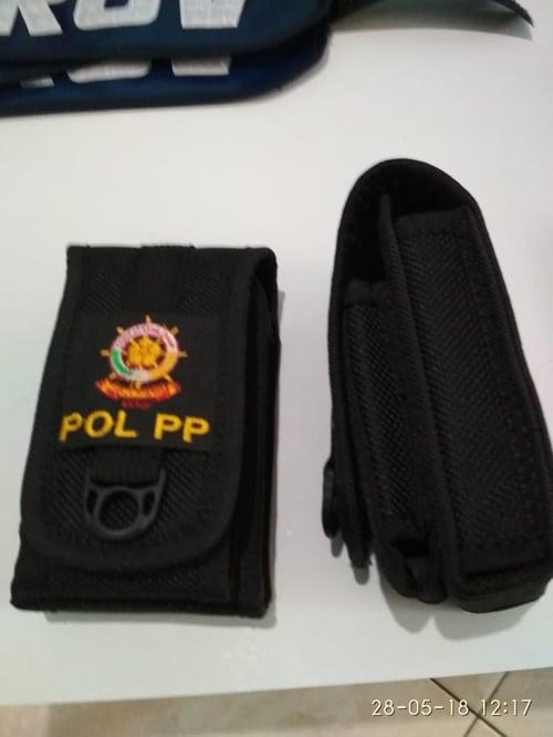 Sarung HP pinggang Satpol PP dobel slot