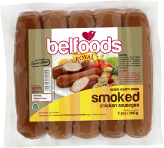 BELFOOD SOSIS AYAM SMOKED/ASAP 360gr
