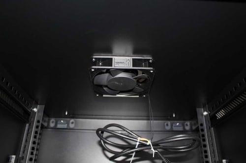 HAGANERACK Rack Server Tempered Glass Door 8U