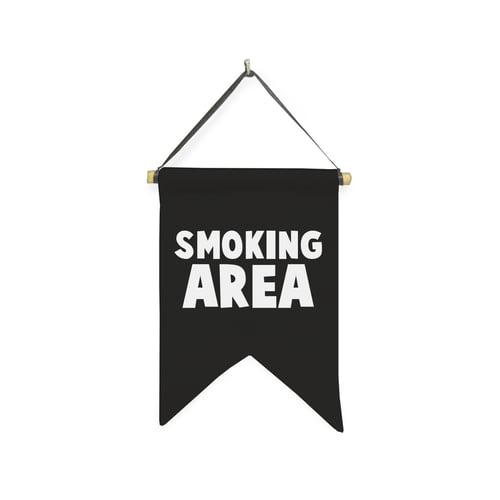 Hanging Sign Smoking Area