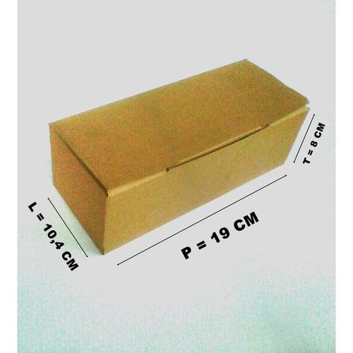 Dus Kardus Packaging Box Packing Polos Coklat Uk. 19 cm x 10,4 cm x 8 cm untuk pelindung paket kiriman