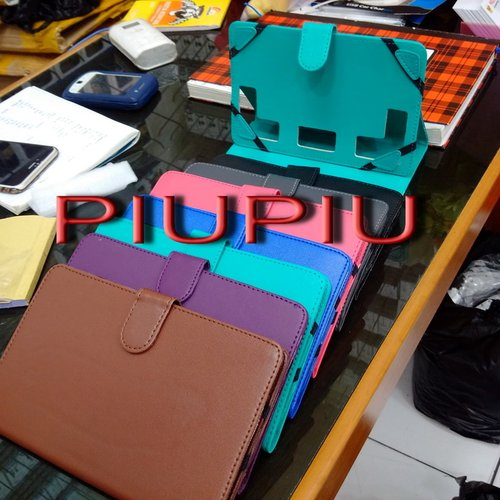 """Book Cover Leather Case Warna Colour Tablet PC / Tab Universal 8"""" / 8 inch ( Huawei, Advan,Vimo)"""