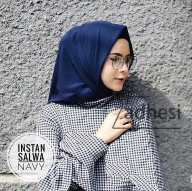 Kerudung Hijab Jilbab Instan Salwa Bubble Crepe Polos harga MURAH