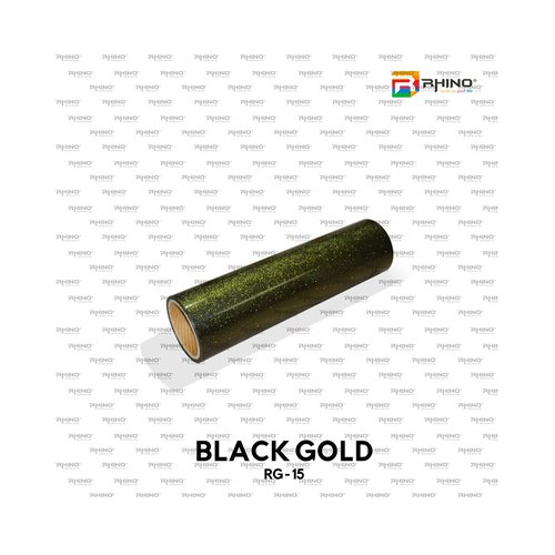 Polyflex Glitter Black Gold RG 15