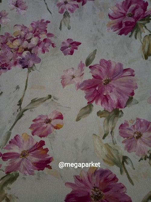Wallpaper Dinding Harga Promo Motif Bunga Merah Muda