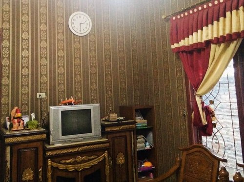 Wallpaper Dinding Motif Classic Garis Coklat Roll Kecil