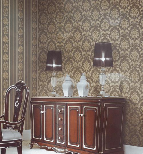 Wallpaper Dinding Harga Promo Motif Classic Coklat