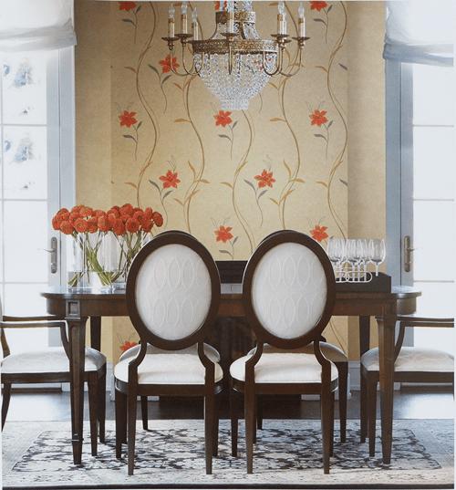 Wallpaper Dinding Harga Promo Motif Bunga Salur