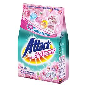 ATTACK Detergen Plus Softener 800 Gram 1 Dus x 12 Polybag