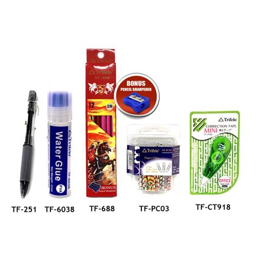 TRIFELO Paket Alat Tulis 01 TF688-TFPC03-TFCT918-TF251