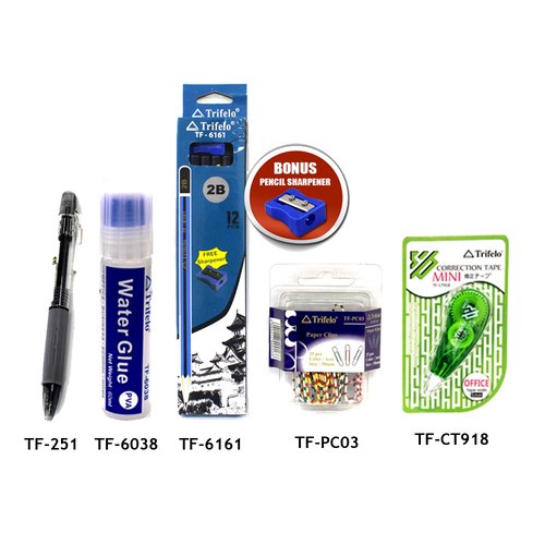 TRIFELO Paket Alat tulis 02 TF6161-TFPC03-TFCT918-TF251