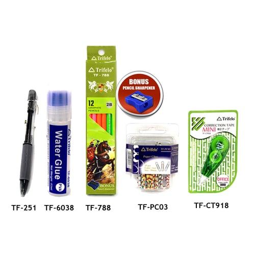 TRIFELO Paket Alat Tulis 03 TF788-TFPC03-TFCT918-TF251