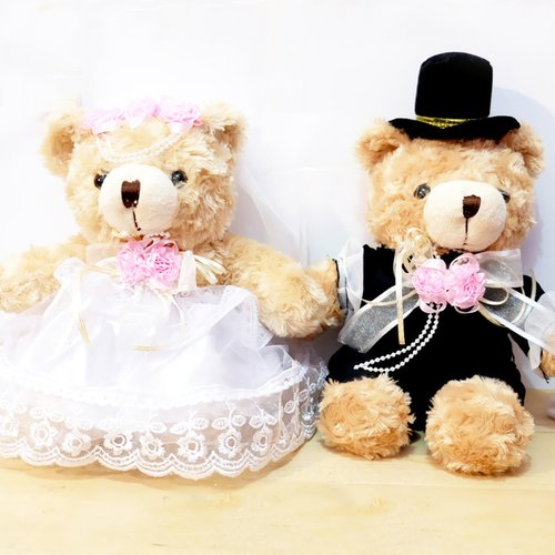Boneka Teddy Bear Wedding 20cm